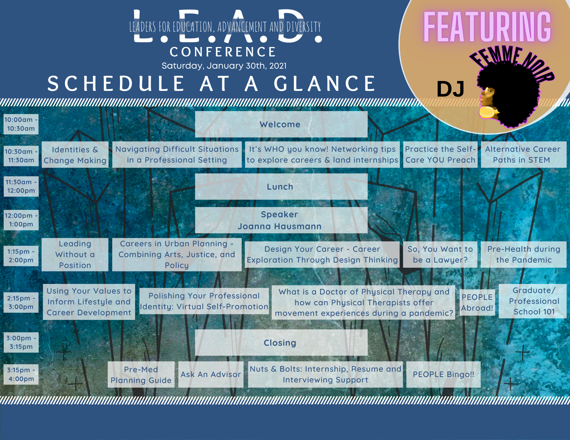LEAD Conference Schedule at a Glance